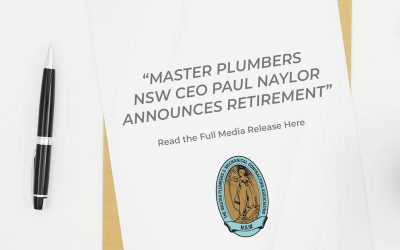 Master Plumbers Nsw Ceo Paul Naylor Announces Retirement
